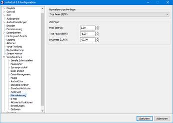 v6.3 Konfiguration Normalisierung