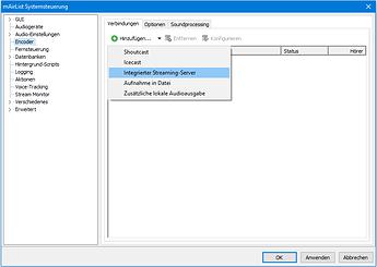 v6.3 Encoder Integrierter Streaming-Server