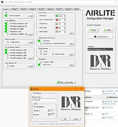 Airlite Config Manager - Settings