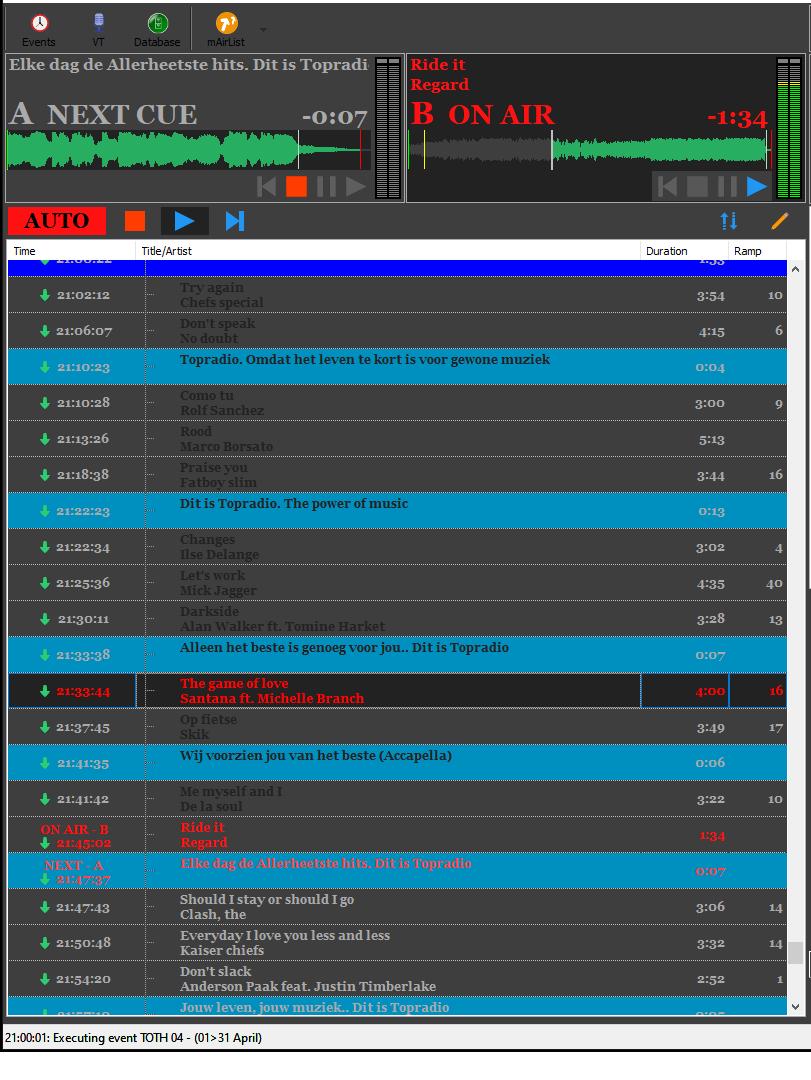 screenshot event editor