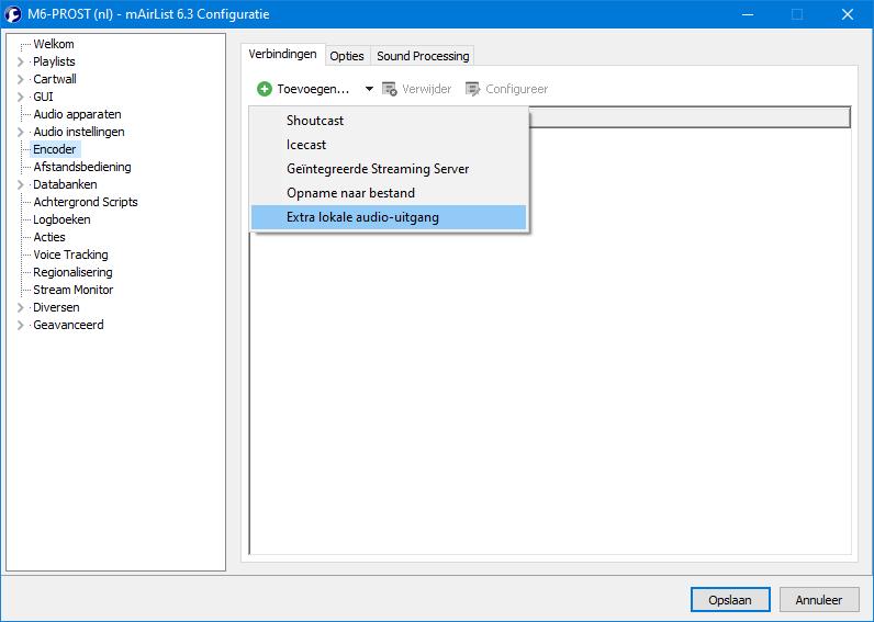 v6.3 (nl) Configuratie Encoder