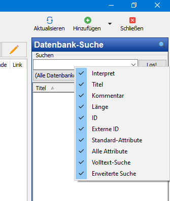 v6.3 Browser Datenbank-Suche (Rechtsklick)